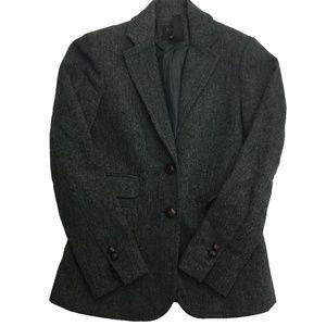 Used, J.Crew Hacking Herringbone Blazer Coat Jacket Sz 0 for sale